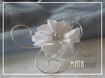 Wedding white rose hair clip